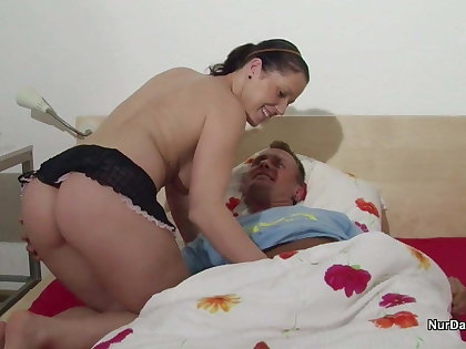 Step-Daughter get fucked away from Step-Dad because she is Nurse
