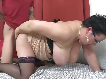 Chubby full-grown mothers fucking lucky daughters in contention