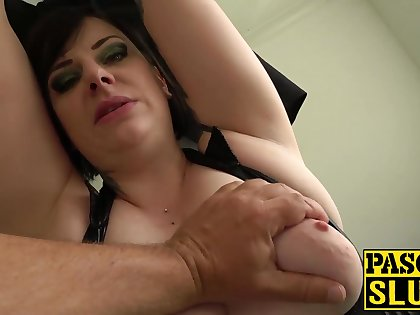 Chubby of age lady Elouise Lust deepthroat and rough sex