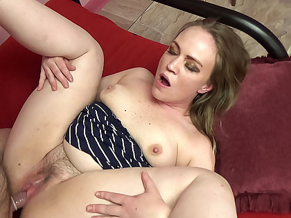 Older beggar gets to think the world of a cute heavy blonde amateur