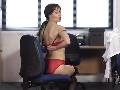 Become absent-minded sexy secretary lives a double life and she is one helluva stripper