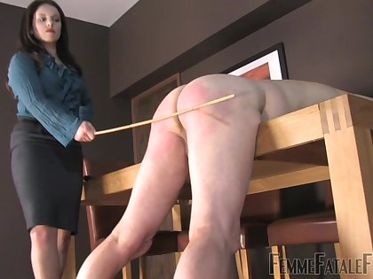 Mistress Lola loves to spank her tied up male related by way of BDSM sex